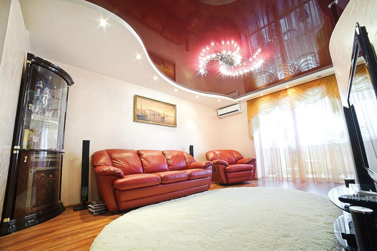 двухуровневые потолки цена