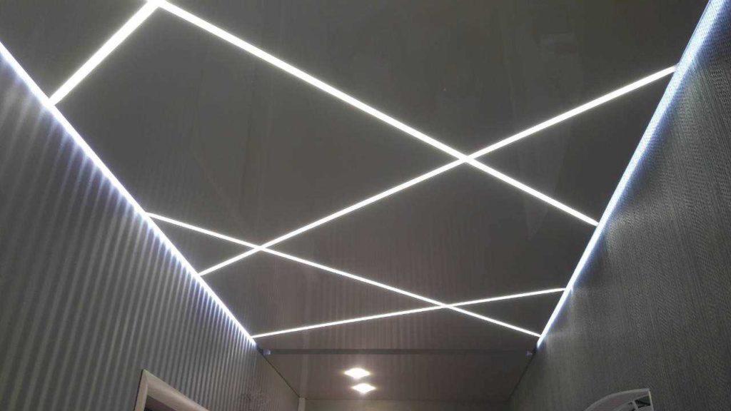 световые лсветовые лини на натяжных потолках фотоинии натяжные потолки фото