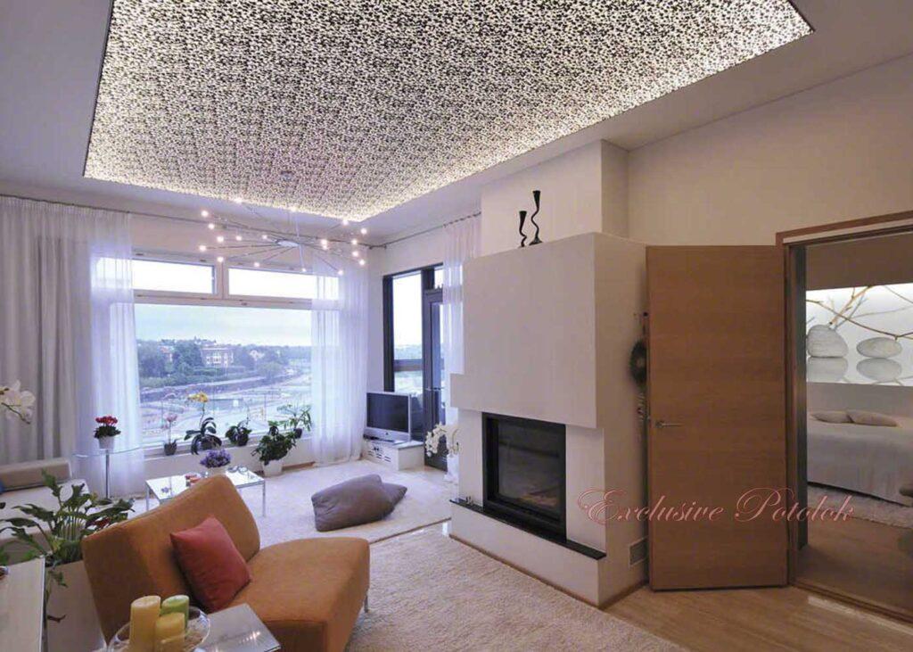 Натяжные потолки Кривой Рог фактурный рельефный структурный заказать недорого фото