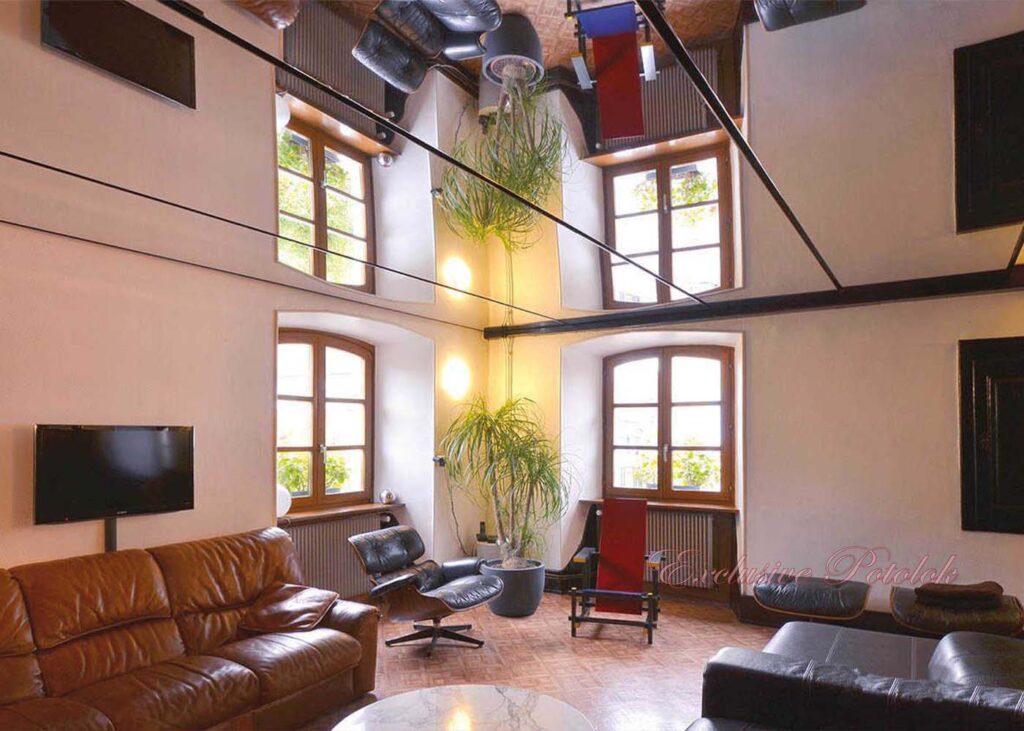 Натяжные потолки фото в Кривом роге зеркало