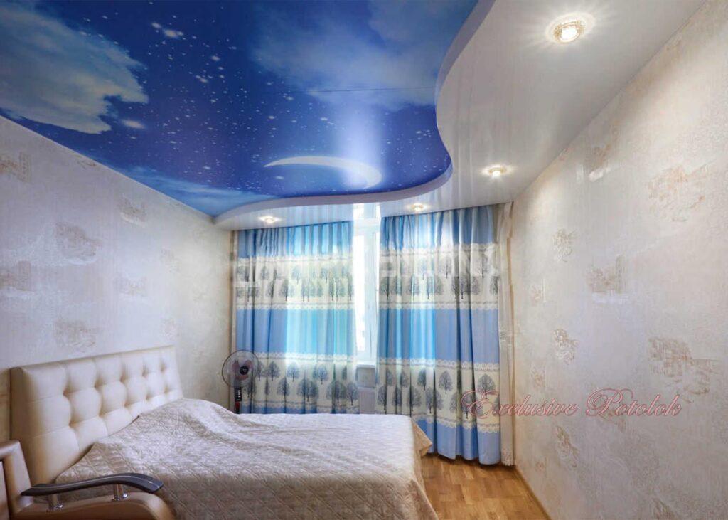 Натяжные потолки фото в Кривом роге обака небо