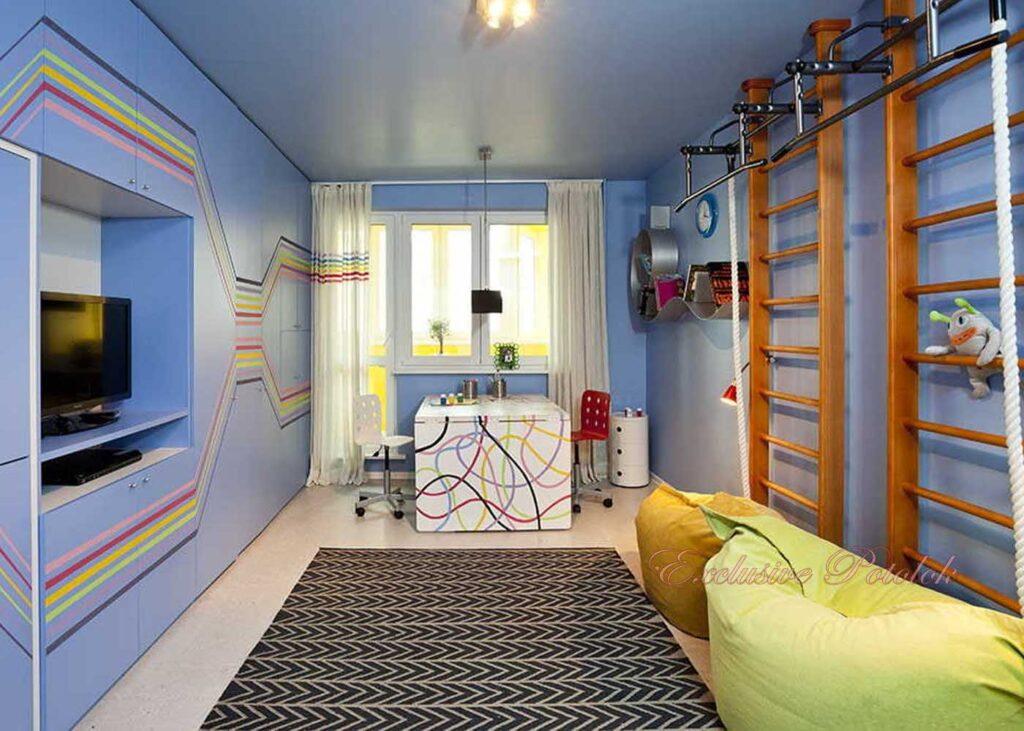 Натяжные потолки фото в Кривом роге в детской спальне