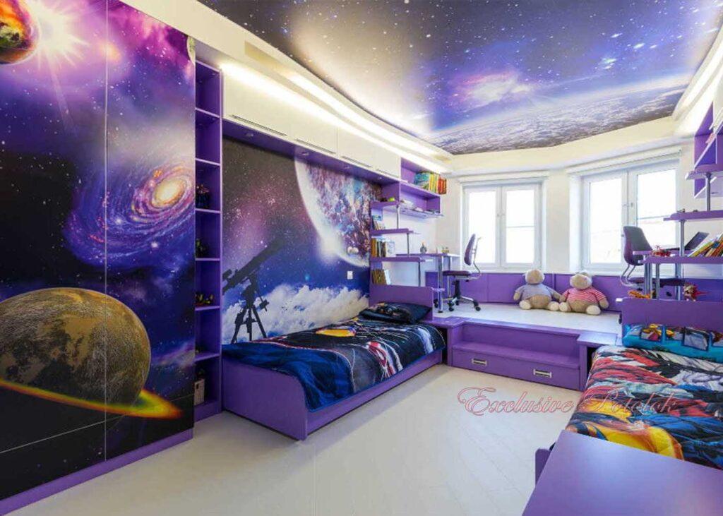 Натяжные потолки фото в Кривом роге в детской комнате