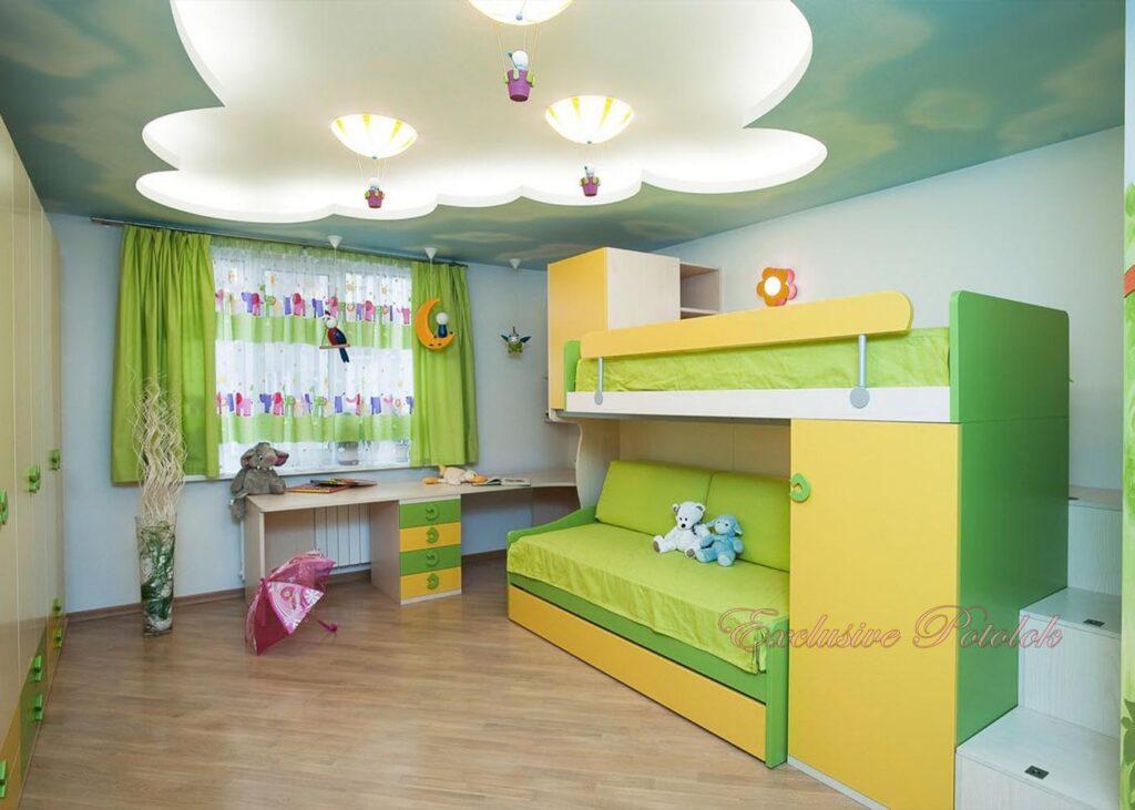 Натяжные потолки фото в Кривом роге в детскую
