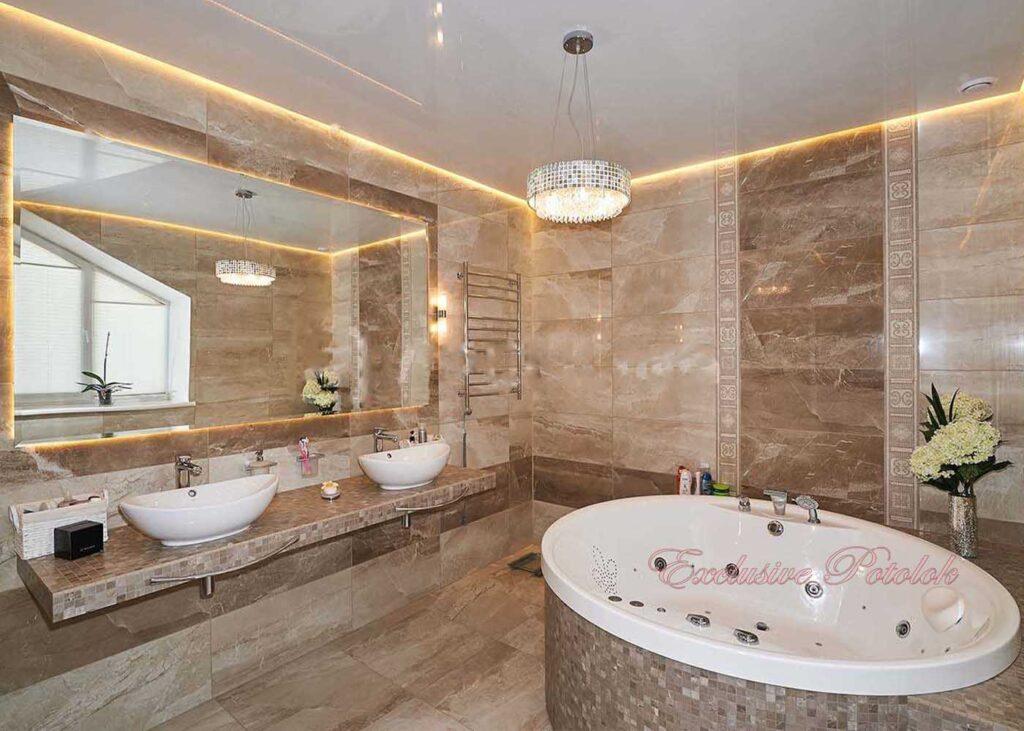 Натяжные потолки кривой рог в ванной купить заказать приимущества