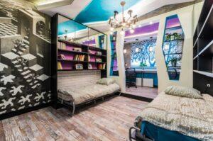 Натяжные потолки в спальне КРивой Рог заказть