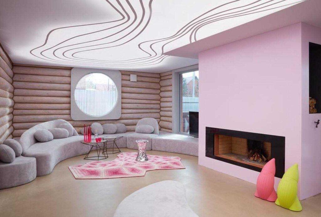 Натяжные потолки в гостиной комнате Кривой Рог  купить