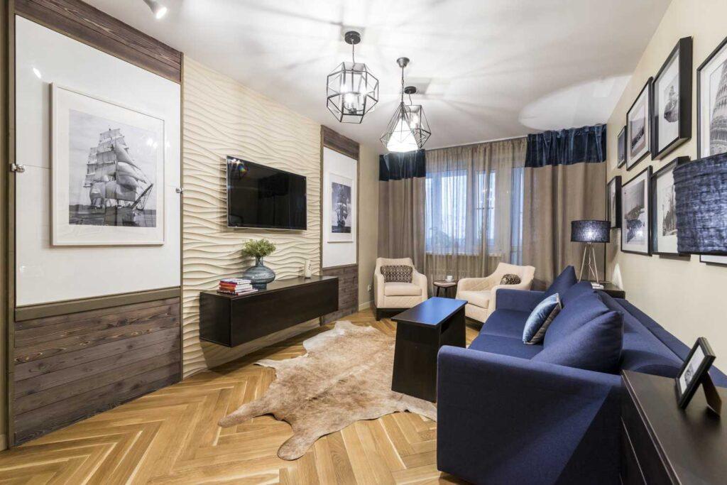 Натяжные потолки в гостиной комнате Кривой Рог  фото