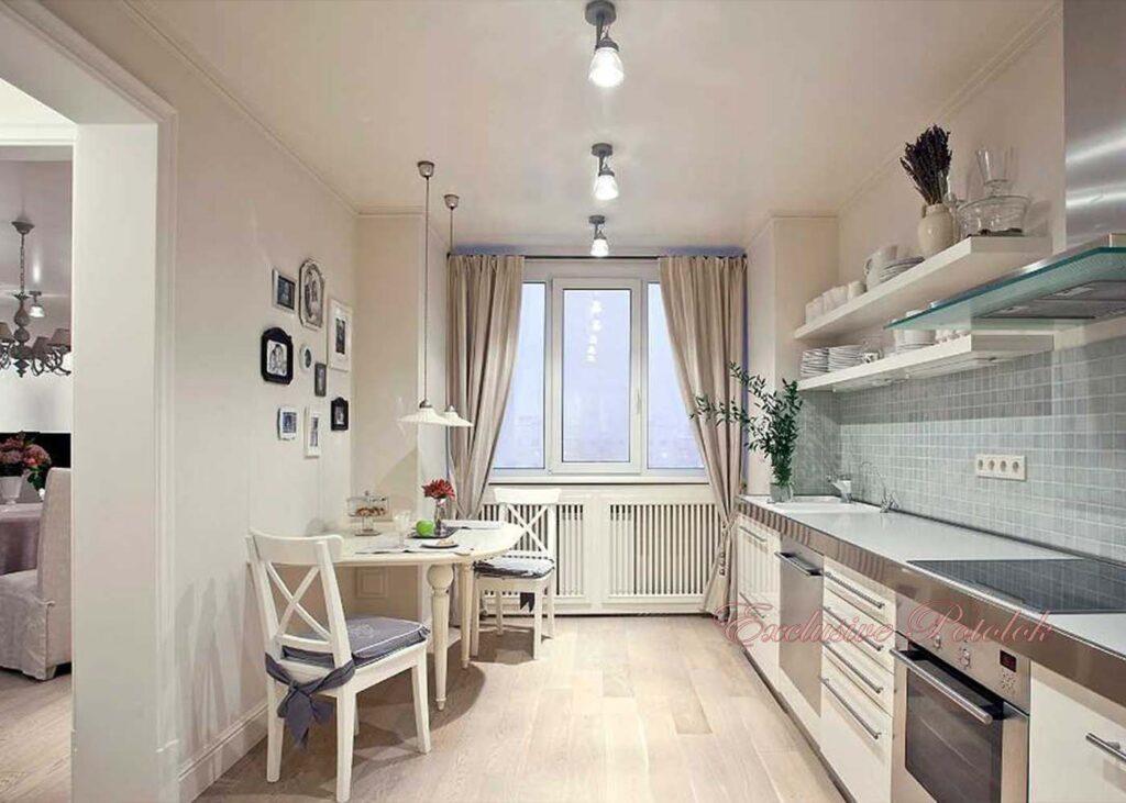 Натяжные потолки кривой рог на кухне в кухне