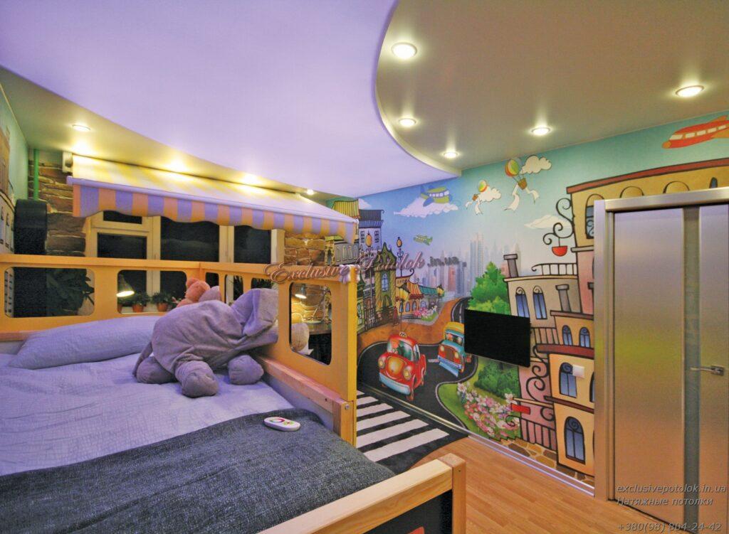 Двухуровневые в детской спальне