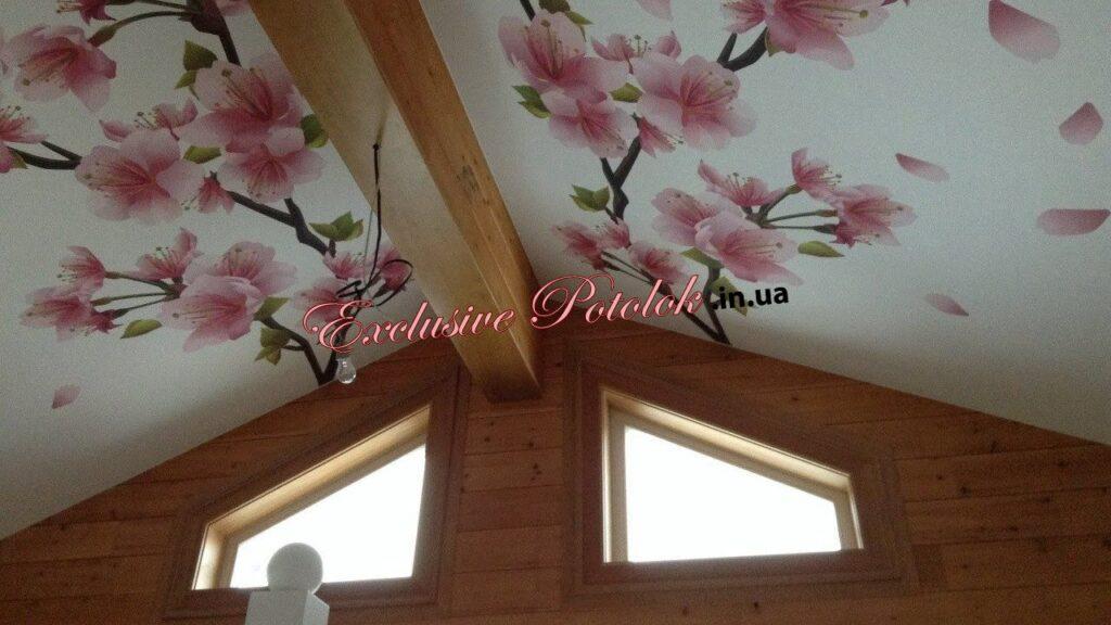 Натяжные потолки на мансарде КРивой Рог фото натяжні стелі КРиви Ріг на мансарді