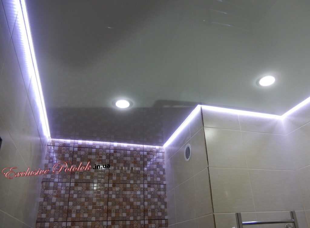Натяжные потолки в ванной фото Кривой Рог Натяжні стелі Кривий Ріг в ванній